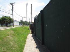 Outfield Wall at Grainger Stadium -- June 28, 2018 (baseballoogie) Tags: 062818 baseball baseball18 baseballpark ballpark stadium graingerstadium canonpowershotsx30is downeastwoodducks woodducks carolina league a milb kinston nc northcarolina
