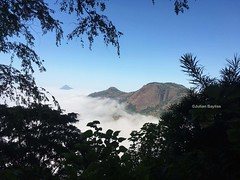 Mount Lico JB - view from above the clouds (inversion) from the crater edge of Mt. Lico (May 18)
