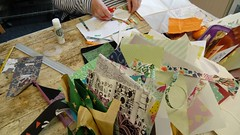 Inventive Sketchbooks Workshop (delicate stitches) Tags: art sketchbooks books origami handmade workshop artist helenwalsh delicatestitches cloud9 dumfries gallery paper envelopes recycle fold
