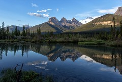 The Three Sisters (JD~PHOTOGRAPHY) Tags: threesisters mountains mountainlandscape reflection water waterreflection canmore nature naturesbest naturallandscape naturesbeauty blueskies canon canon6d