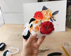 IMAG5443_20180721114630528 (Mingle Doll 鳴娃娃) Tags: crochet crochetgoldfish crochetfish amigurumi amigurumidoll crochetamigurumi oranda orandagoldfish fancygoldfish 金魚 かぎ針編み金魚