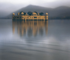 Jal Mahal ... the palace on water .. (tchakladerphotography) Tags: palace pride heritage beautiful rajput ancient fort history antique lake india architecture landmark old water jaipur majestic rajasthan historical waterpalace building famous tourism indian historic jaipurindia travel hill