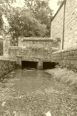 Dale Brook by St Martins, Stoney Middleton (dave_attrill) Tags: dalebrook cobbles stoneymiddleton derbyshire peakdistrict village eyam nearcalver ancient highway limestone limestoneburning industry besom bootmaking candle romansettlement lorddenman july 2018 sepia monochrome tint