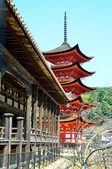 Senjokaku and Gojunoto (Gedsman) Tags: japan asia northeastasia eastasia traditional culture cultural shinto buddhist tower neon lights travel beauty architecture island temple photography hiroshima miyajima sea seto inland castle atomicbomb abomb atomic bomb