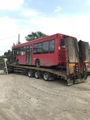 The end is nigh for DSD209.... (kizmanbusesco) Tags: nw pb exmetroline dualdoor red lr02bfa depot truck scrap dsd209 dart dennis bearbuses