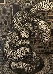 Jun Lee: Got My Back Woodprint (misterperturbed) Tags: artscape2018 baltimore mica