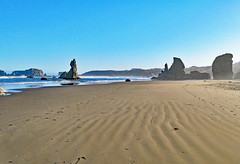bn1070641BeachSandRipples (thom52) Tags: bandon or oregon coast coastline beach fog