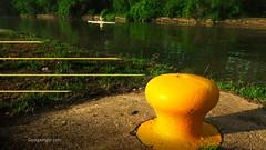 Canal Bollard (GeorgeAlger.com) Tags: bollard canal water shell boat