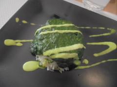 525 (en-ri) Tags: riso spinaci verde bianco ristorante restaurant pranzo lunch sony sonysti nero piatto