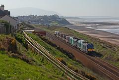 Nuclear De Fence (Richie B.) Tags: 68023 68001 vossloh caterpillar 6c53 nuclear flask fna seascale cumbria drs direct rail services
