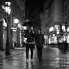 Rainy Together (dandrasphoto) Tags: canon eos 1dx mk ii mkii 85mm f12 black whit bw monochrome rain night