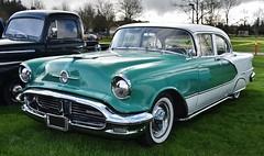 1956 Oldsmobile Ninety-Eight 4-door sedan (Custom_Cab) Tags: 1956 oldsmobile olds 98 ninetyeight ninety eight 4door 4 door sedan car two tone