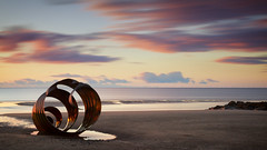 Sunset at Mary's (G-WWBB) Tags: marys marysshell thorntoncleveleys cleveleys sunset clouds longexposure golden sky sea beach shell