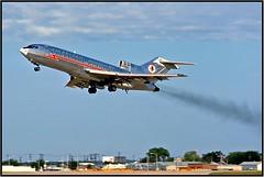 N1907 American Airlines (Bob Garrard) Tags: n1907 american airlines boeing 727 dal kdal 1967 july smoke