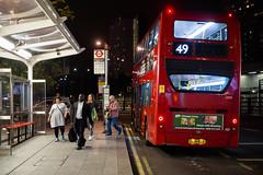 Abellio London 2459 (cybertect) Tags: 2459 49 adlenviro400 abellio abelliolondon canonfd50mmf14 london londonw12 londonbus sl14ddx shepherdsbush shepherdsbushstation sonya7ii w12 bus busstop doubledecker night passengers