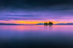 sunset 1575 (junjiaoyama) Tags: japan sunset sky light cloud weather landscape orange purple yellow pink color lake island water nature summer calm reflection dusk serene bright