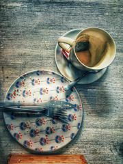 Done (amuna_caty) Tags: cup cups photo photography photograph photographer picture tea teatime table top topview old original color colors clear coffeecup coffee