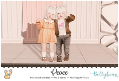 { Bellybean } Peace AD (Bella Parker) Tags: bellybean ninetynine toddleedoo toddler toddleedooblogger td tdblog tdfashion tdblogger tdevent tdposes tdpose secondlife sl slevent slfamily slpose bento bentopose slbento