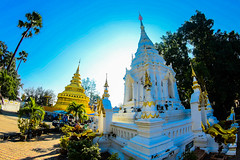 Wat and chiangmai  city in Thailand (www.icon0.com) Tags: thailand temple buddhism culture travel architecture religion asia chiangmai landmark ancient wat traditional thai art asian tourism buddha buddhist building religious beautiful gold statue history pagoda background sculpture