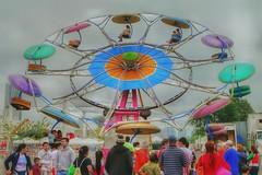 Festival Ride (Ken Mattison) Tags: festival italianfest fair fairrides color colours people outdoor summer panasonic fz1000 composition lowperspective perspective pov hdr