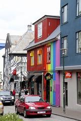 Kiki Queer Bar (oxfordblues84) Tags: illy oat overseasadventuretravel reykjavik reykjavikiceland iceland centralreykjavik architecture building gaybar kikiqueerbar queerbar bar rainbowpaintedbuilding streetscene reykjavikstreetscene car reykjavikarchitecture klapparstígur