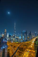 Burj Khalifa in Portrait (1/2) (ijpears) Tags: red dubai burj khalifa shangrila emirates gulf
