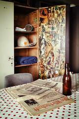 Workers Delight (Ralph Graef) Tags: brandenburg still bottle chair pinup museum newspaper ddr worker break canteen