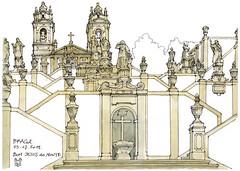 Braga, 2018 (gerard michel) Tags: portugal braga église escalier architecture baroque sketch croquis