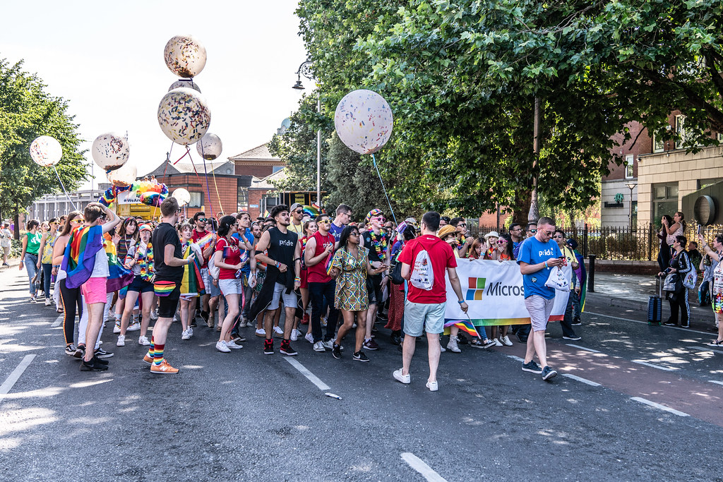 ABOUT SIXTY THOUSAND TOOK PART IN THE DUBLIN LGBTI+ PARADE TODAY[ SATURDAY 30 JUNE 2018] X-100123
