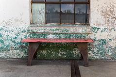 Old bench (MarksPhotoTravels) Tags: greenvillecounty mill southcarolina southernbleacheryandprintworks taylors taylorsmill unitedstates