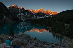 Moraine Lake Sunrise - Part Deux (headshatter) Tags: landscapephotography canadianrockies goatworthy optoutside rei travel alpenglow albertacanada morainelake banff