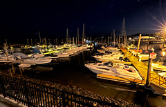 Guilford marina night views (Bob Gundersen) Tags: bobgundersen nikon gundersen nikond600 robertgundersen d600 guilford connecticut ct country usa connecticutscenes coast water waterfront towndock newengland blue building buoy lobster lobsterlanding orange grey interesting image photo picture places port scenes shots shoreline buoyant whitfieldstreet nikoncamera catchycolors flickr architecture conn lobsterpot lobstertrap trap wharf exterior outside marina boat ship scene shore longexposure dark dock night nightshots