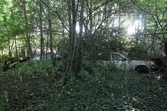 IMG_0100 (mookie427) Tags: urbex urban explore exploration exploring explorers explorer ue derelict abandoned dereliction abandonment car cars classic graveyard scrapyard junkyard opel ascona jaguar xj6