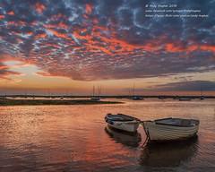 Another sunset scene... (viewfinder.general) Tags: hightide brancasterstaithe brancaster norfolk sunset