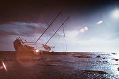 (G i a c o m o - M a c i s) Tags: sea seascape infrared ir landscape iversion canon eos 20d 720 ship shipwreck infrarosso flare mincamiailflare calm storm sardegna sardinia italia italy vsco vscofilm