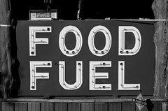 Food and Fuel (dangr.dave) Tags: architecture downtown graysoncounty historic texas tioga tx neon neonsign food fuel