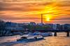 Sail to the sunset (Sean X. Liu) Tags: sunset river seine paris eiffeltower tower goldenhour france