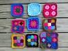 Some rehabbed crochet squares ready for adventure (crochetbug13) Tags: crochet crocheted crocheting crochetbug crochetsquares grannysquares crochetblanket crochetafghan crochetthrow crochetflowers crochetroses