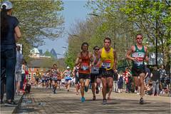 112. 3 London Marathon 3 (Dominic@Caterham) Tags: london marathon street trees sky city runners spectators sunlight shadows