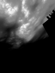 Urban landscape (Orereta, Gipuzkoa) (Josu Sein) Tags: orereta errenteria rentería gipuzkoa guipúzcoa euskalherria euskadi basquecountry urban urbano urbanlandscape paisajeurbano sky cielo clouds nubes backlight backlighting contraluz shadows sombras misterio mystery cinematic cinemático expressionism expresionismo monochrome monocromo