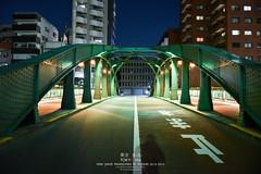 Yanagi-bashi Bridge (Pop_narute) Tags: yanagibashi bridge night life walk kanda river tokyo japan street light structure steel symmetry