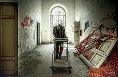 I've lost my head for this cart (slawomirsobczak) Tags: urbex urbanexploration abandoned italy lunatic asylum hospital