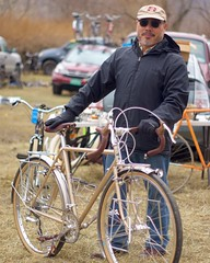 Handing off a bike is the best part of what I do and I got to hand this one off twice! Joe let me show his bike at NAHBS back in February and then again today at Copake. It's definitely a head turner. (Chapman Cycles) Tags:
