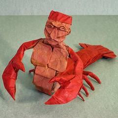 Lobstaur (Kevin Hutson) Tags: origami lobstaur lobster centaur paper folding box pleating crustacean mythical creature