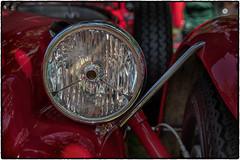 Car Art (drpeterrath) Tags: canon eos5dsr 5dsr dof depthoffield car auto automobile vintage calssic color show outdoor red tire headlamo fender losangeles sanmarino concours california closeup n naturallight