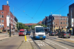 Busje komt zo (Peter ( phonepics only) Eijkman) Tags: amsterdam city gvb bussen busses bus wegwerkzaamheden roadworks detour omleiding rail rails streetcars strassenbahn tram transport trams tramtracks trolley nederland netherlands nederlandse noordholland holland