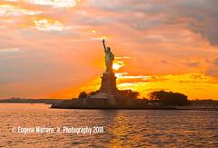 New York City (Themarrero) Tags: newyorkcity newyork nyc ny nps statueofliberty nationalparkservice sunset newyorkharbor olympuse5