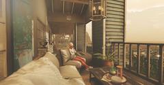 The Shore Porch... (kellytopaz) Tags: ionic chapter four shutterfield sofa chair shabby chic rustic shore beach house