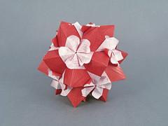 Bartonia (masha_losk) Tags: kusudama кусудама origamiwork origamiart foliage origami paper paperfolding modularorigami unitorigami модульноеоригами оригами бумага folded symmetry design handmade art