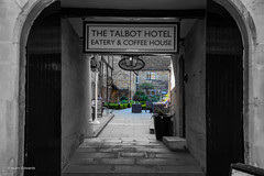 The Talbot Hotel (norm.edwards) Tags: oundle town culture hotel nice beer wine drink tennis lovely blackandwhite country pub sit sittingoutside courtyard black white tonal